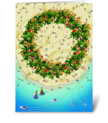 Tropical Wreath greeting card