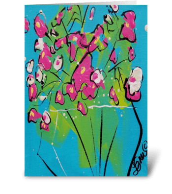 Sweetpeas greeting card