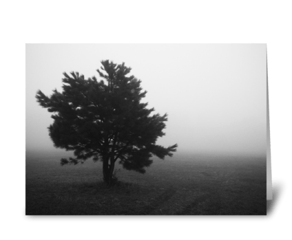 Dense Fog greeting card