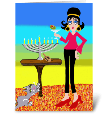 Happy Chanukah greeting card