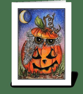 Halloween Hoot greeting card