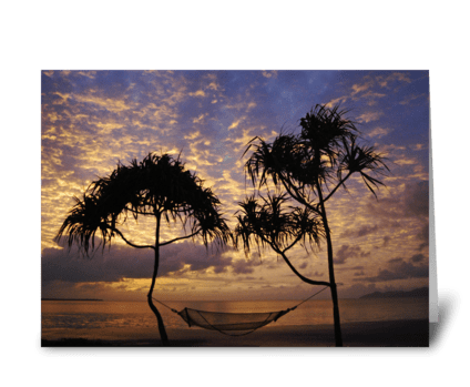 Hammock Sunrise greeting card
