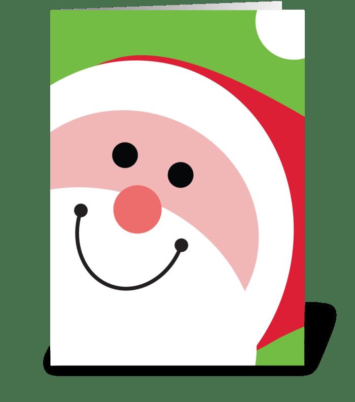 Jolly Santa greeting card