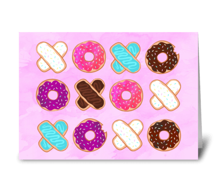 XOXO Donuts greeting card