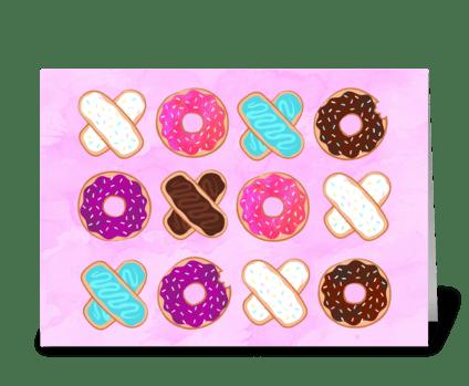 XOXO Donuts greeting card