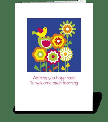 Wish_floral-folk greeting card