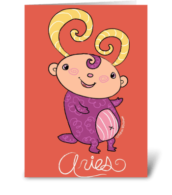 Little Aries  greeting card