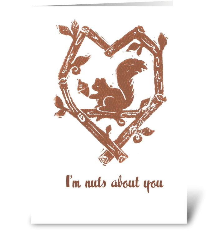 Nuts About You greeting card