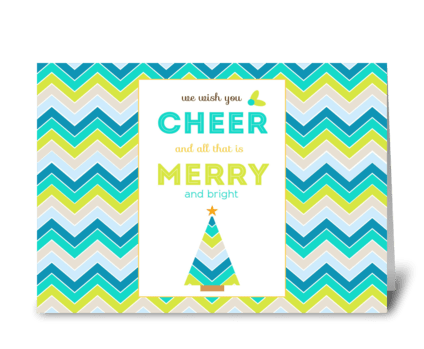 We Wish You Christmas Cheer. greeting card
