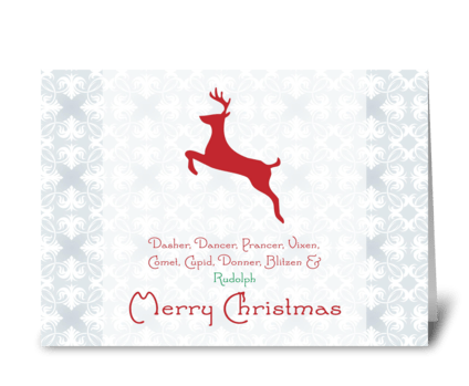 Merry Christmas {reindeer} greeting card