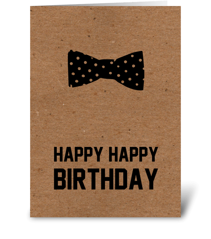 Hipster Happy Happy Birthday  greeting card