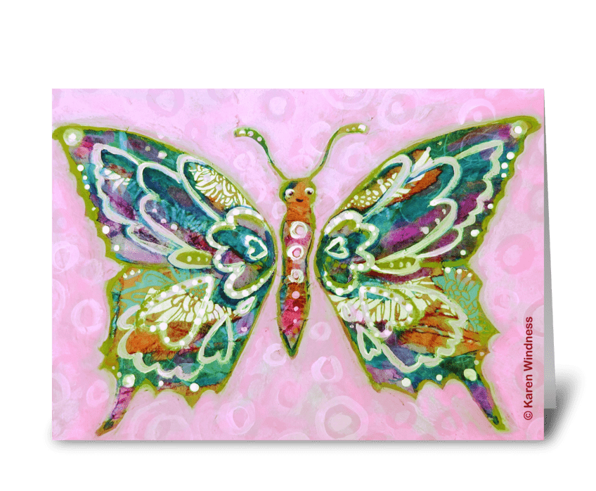 Butterfly of Happiness greeting card