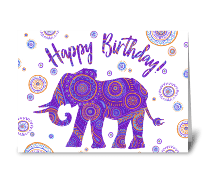 Happy Birthday Elephant greeting card