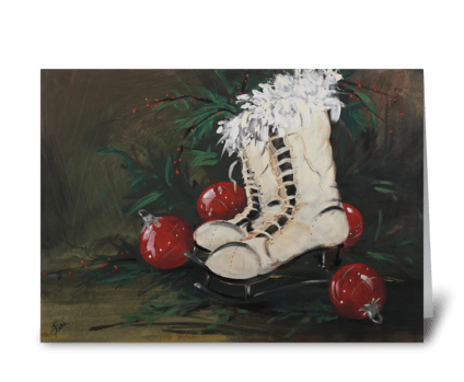 Christmas Skates greeting card