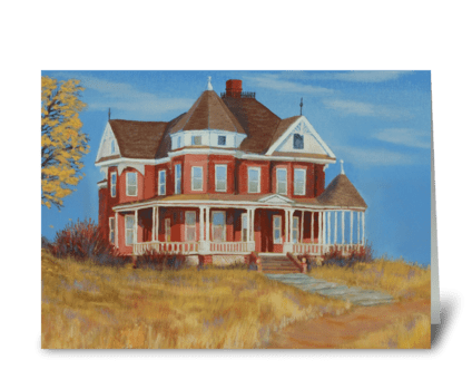 Boulder County Victorian Farm House greeting card