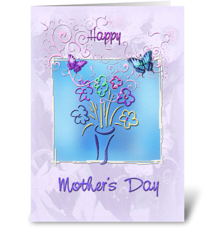 Mother's Day, Whimsical design greeting card