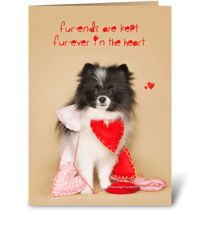 Furends Furever Puppy Hearts greeting card