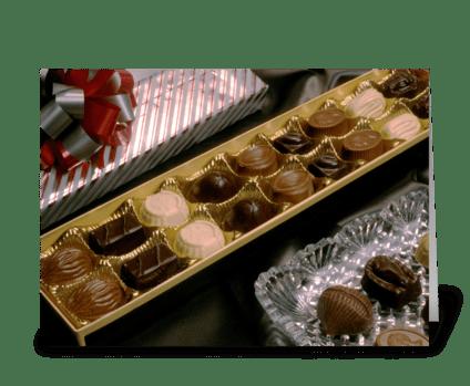 Chocolate Treats greeting card