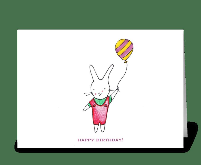 Bunny Birthday greeting card
