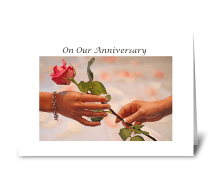 On Our Anniversary greeting card