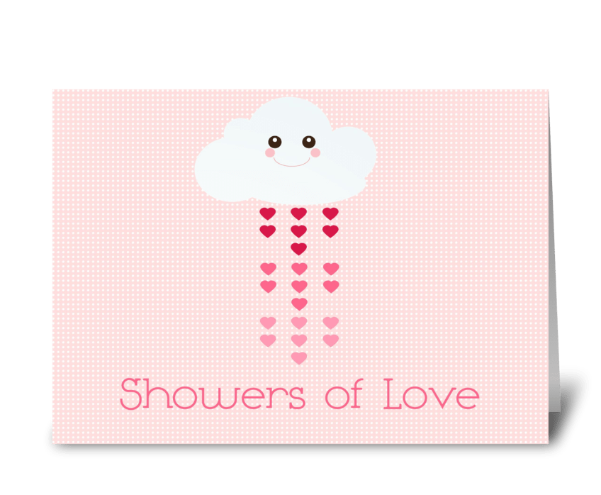 Showers of Love greeting card