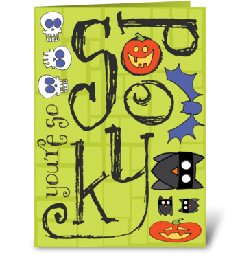 Spooky Halloween greeting card