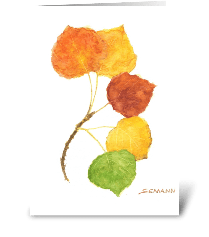 Fan of Nature greeting card