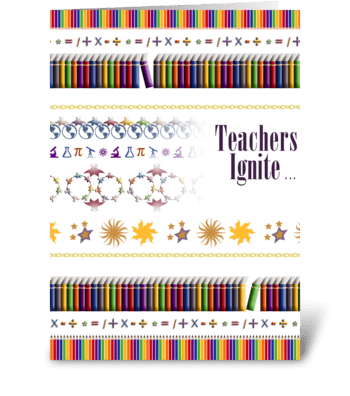 Teachers Ignite - World Teachers' Day greeting card