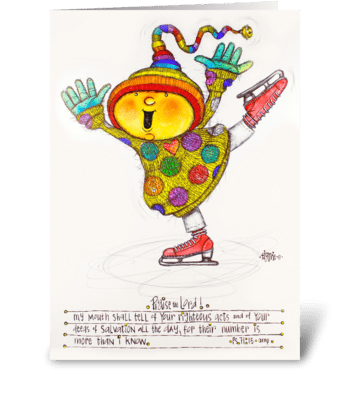 Happy Figure Skater greeting card