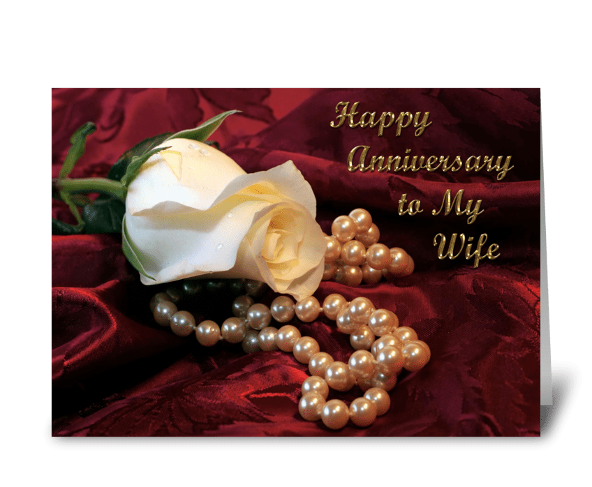Anniversary Wishes for Wife  greeting card