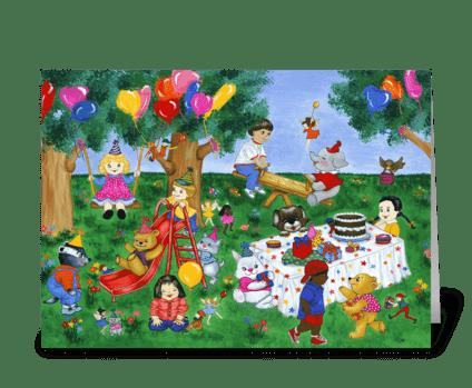 Birthday Magic greeting card