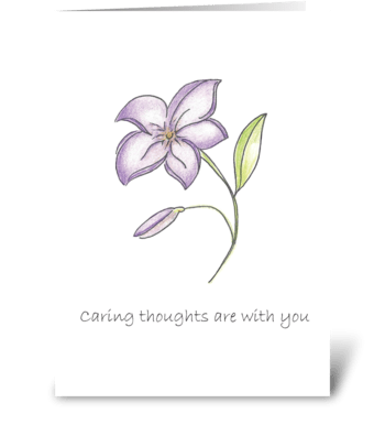 Caring thoughts are with you greeting card