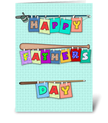 Sports, Happy Father's Day greeting card