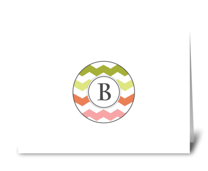 "Chevron Monogram ""B"" greeting card"