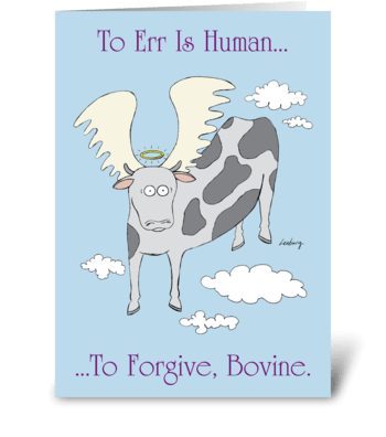 Heavenly Cow greeting card