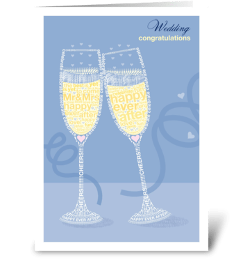 Mr & Mrs Champagne  greeting card
