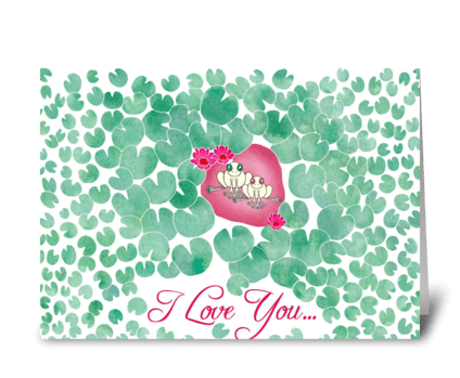 Lily Pad Love greeting card