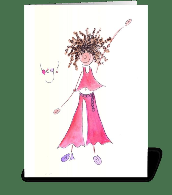 hey! greeting card