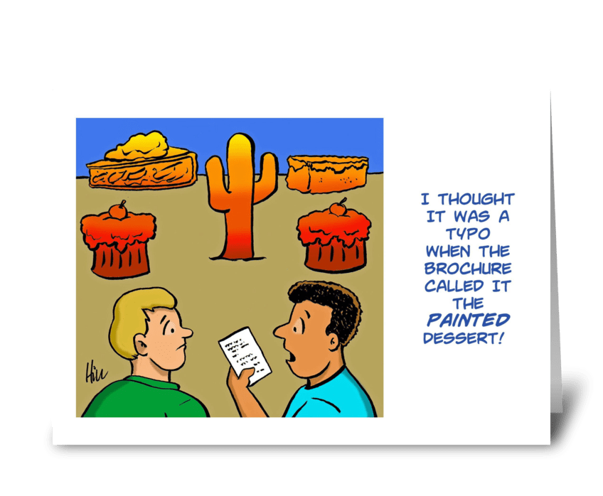The Painted Dessert greeting card