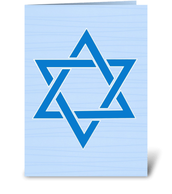 Star of David Hanukkah greeting card