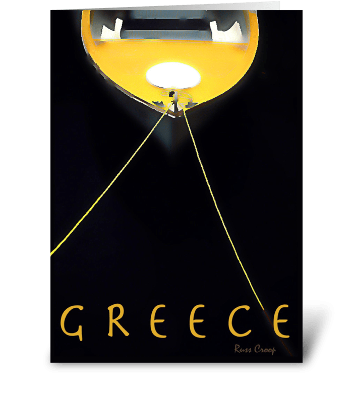 Greece Travel Poster greeting card