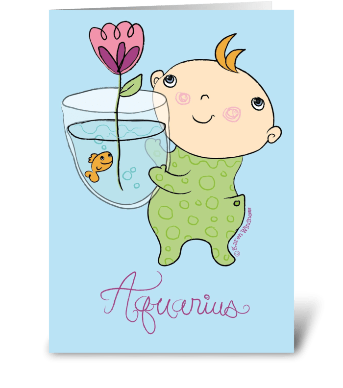 Aquarius Baby greeting card