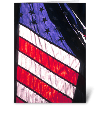 American Flag Silhouette  greeting card