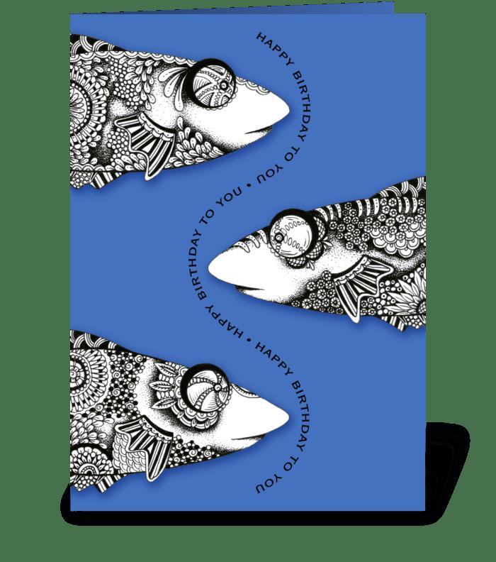 Bug eyed fish birthday send this greeting card designed by lorrie bug eyed fish birthday greeting card m4hsunfo