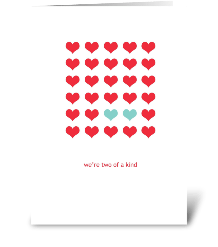 Two of a Kind greeting card