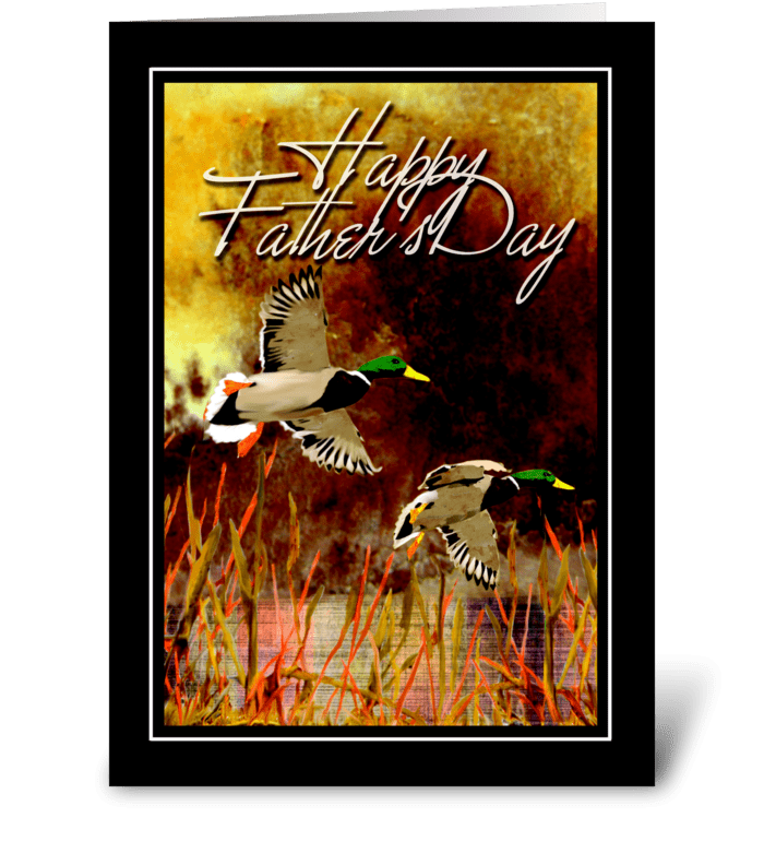 Being with Dad  greeting card