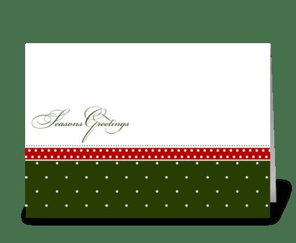 Traditional Seasons Greetings greeting card
