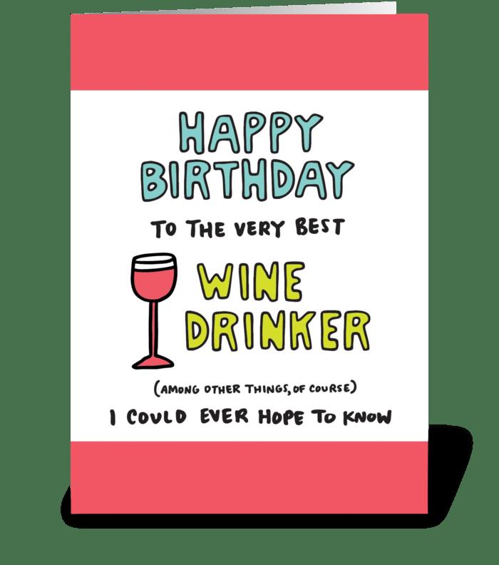 Happy Birthday Wine Drinker