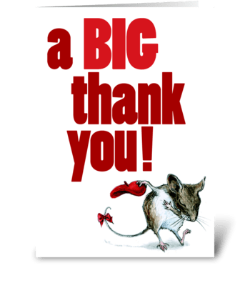 Merci Fieldmouse greeting card