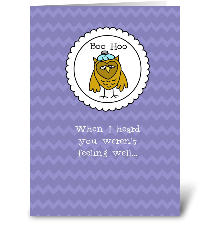 Get Well with Owl My Heart greeting card